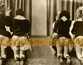 MATURE... Naughty at School... Digital Download... Vintage Nude Photo Image by Lovalon