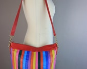 Vintage I. Magnin made in Italy Striped Purse Bag