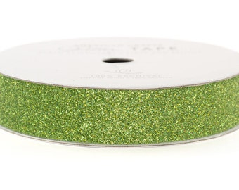 "Glitter Tape Spinach Green - 5/8"" x 3 yds - 100% Archival"