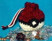 Pokeball Crochet Pouch