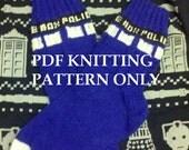 Knitting Pattern: Doctor Who Tardis Socks