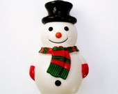 Large Retro Snowman Cake Topper Vintage Inspired Holiday Decoration