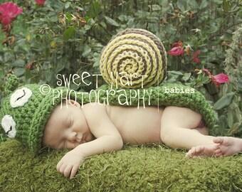 Baby Snail Set- Newborn Photo Prop, newborn snail, snail photo prop, newborn photography prop, baby snail set, snail newborn prop