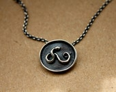 Sterling Silver Snake Signet Necklace--Healing and Regeneration