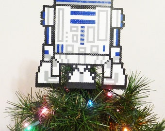 Star Wars R2D2 Perler Bead Christmas Tree Topper