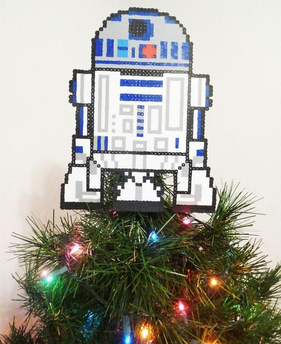 Star Wars Christmas Tree Lights: Items Similar To Star Wars R2D2 Perler Bead Christmas Tree