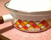 George Briard Enamel Sauce Pan- Carousel Style