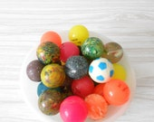 vintage rubber high bouncing balls // collection of 32