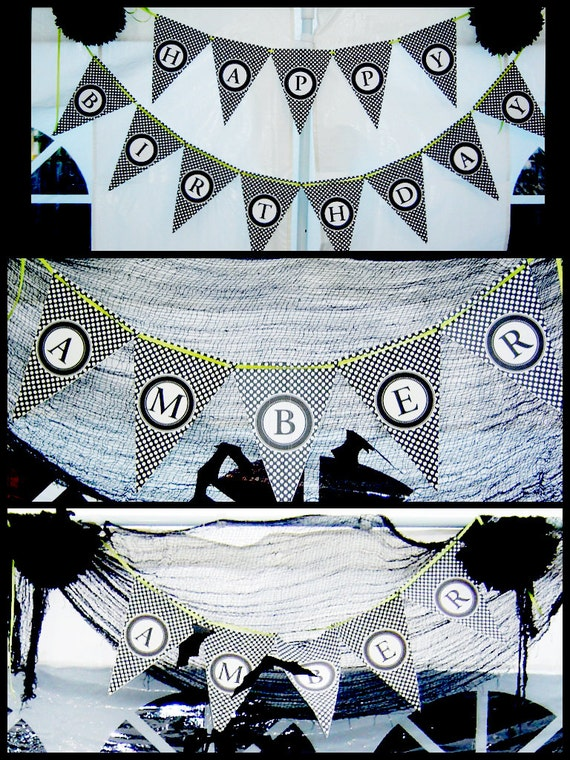 HALLOWEEN Bunting or Banner - DIY Printable - Alphabet and Numbers - Make Your Own Message