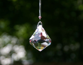 Swarovski Crystal Suncatcher- Clear Dreidel-Large