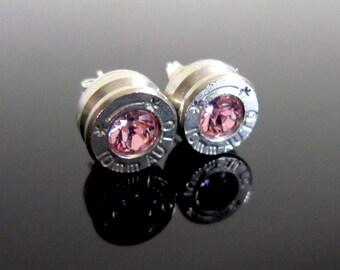 Rose Bullet Stud Earrings