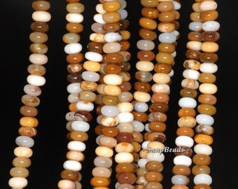 Mexican Agate Gemstone, Brown, Rondelle 6X4MM Loose Beads 16 inch Full Strand (90113284-125)
