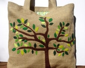 RESERVED  Eco friendly  Jute tote handbag / fashion  / all to carry/ shopper/vacations