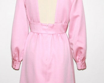 Chester Weinberg- PINK Gown Dress V cut Back - Maxi Length Size Small