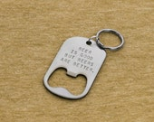 Stocking Stuffer for Men - Personalized Key Chain Bottle Opener