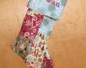 Medium Patchwork Christmas Stocking (Red Cuff only for this stocking)