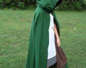 Brown/Green Reversible Hooded Cloak