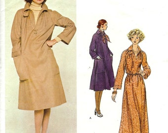 PATTERN Vogue 1257 Dress loose fit pullover with raglan sleeves Size 14 Geoffrey Beene Vogue American Designer (uncut)