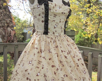 SOLD: Classic Lolita Chocolate Brown Alice in Wonderland JSK