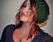 Winter Hat - Crochet Hat - Slouchy Beanie - Beanie - Green Hat - Beret - Slouchy Hat - Women Hat - Oversized Hat - Chunky Knit
