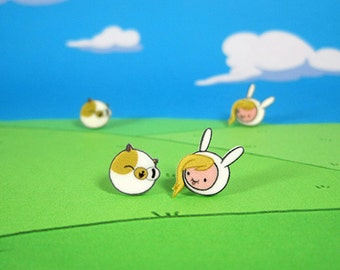 Adventure Time Earring Set - Fionna and Cake