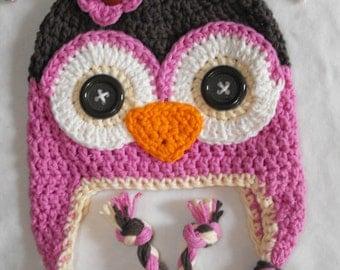 baby hat, owl hat, crochet owl hat, crochet kids hat, crochet baby hat, custom colors