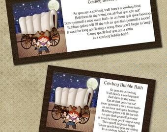 DIY Cowboy Bubble Bath Digital Bag Topper - Father's Day Gag Gift -BG005