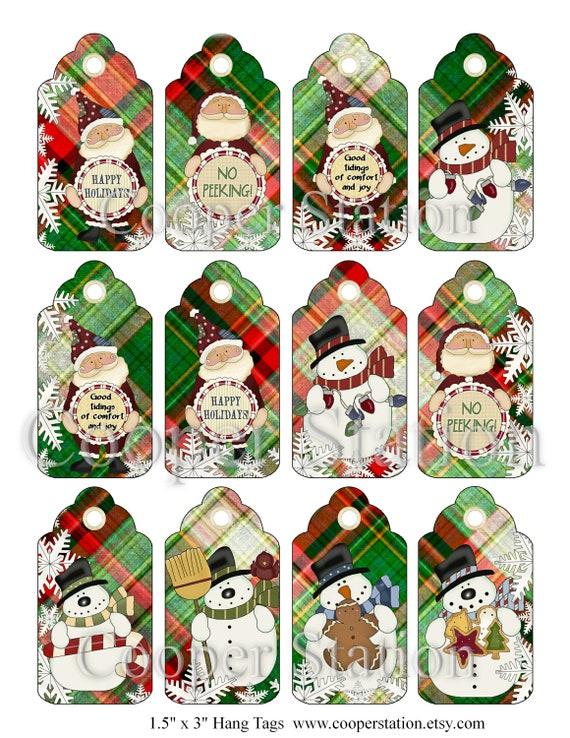 DIY Digital Christmas Gift Tags