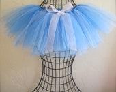 Corn Flower Blue and Light blue Tutu Skirt. Little Girl's Blue Tutu Skirt. Ballet Tutu. Figure skating tutu. Princess Tutu. Sewn Tutu