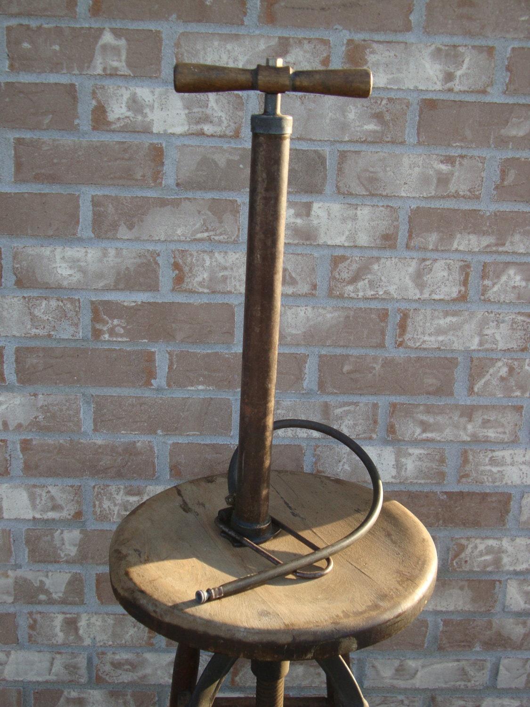 antique air pump tire pump  sweetserendipityvint  etsy