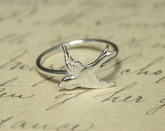 Posy Collection - Sterling Silver Swallow Ring
