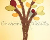 Personalized Thankful Tree Thanksgiving Vinyl Wall Decal- Removable & Write-On