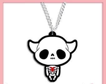 SALE - KAWAII SKELETON - Super cute Kawaii necklace