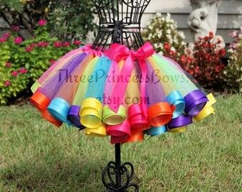 Candy Land Rainbow Ribbon Birthday Tutu candyland