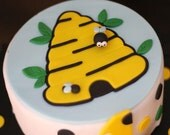 Cute Exclusive Design Bee Bumblebee Fondant Cake Topper - This Set Perfectly Matches Our Whimsical Bumblebee Cupcake Toppers