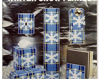 Winter Snow Flakes  Plastic Canvas Pattern Book  Needlecraft Ala Mode leaftet 103