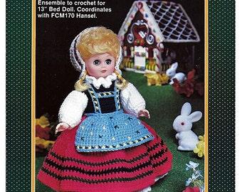 Gretel  Bed Doll Crochet Pattern Fibre Craft FCM171