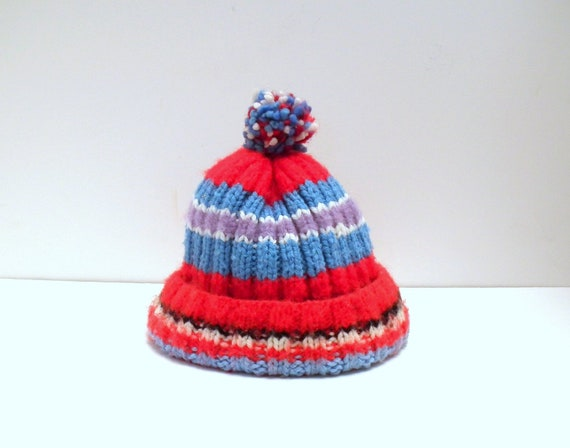 Vintage Childs Winter Knit Hat
