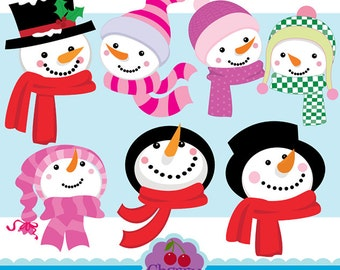 Winter Snowman Fun digital clipart set-Personal and Commercial Use-paper crafts,card making,scrapbooking,web design