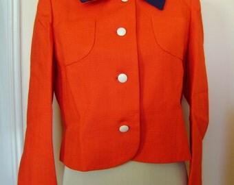 Original red linen Twiggy-style 60s Mod jacket