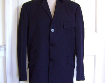 Superb 1960s navy Beatles jacket with velvet collar