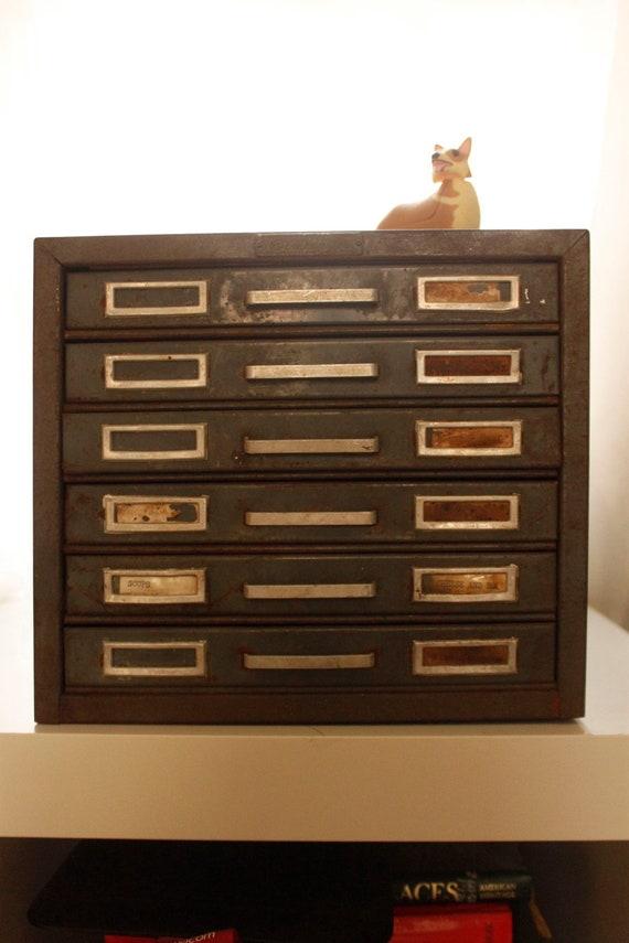 Industrial Vintage Steel Master File Cabinet