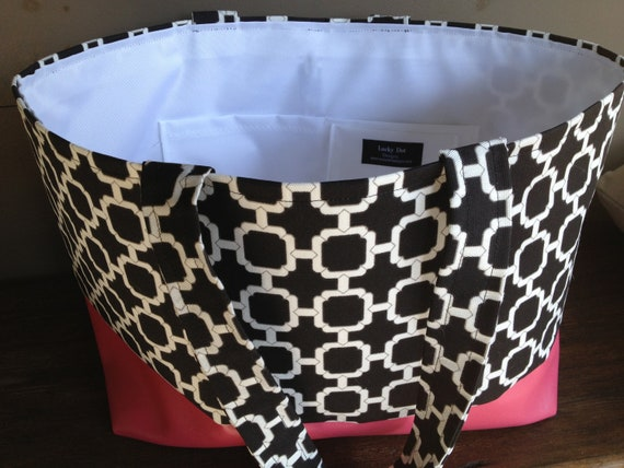 Hot Pink Large Waterproof Beach Bag Pool Tote