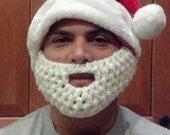 Santa Beard Hat for teen to Adult with detachable beard