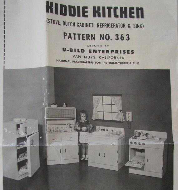Play Kitchen Plans: Kiddie Kitchen Play Kitchen Plans DIY To Make A 4 Piece Set