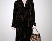 1960-1970's Crushed Velvet 2 Piece Suit By Mr. Boots OH SO MOD