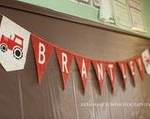 Tractor Farm Birthday Banner / Name Banner / Burlap Banner