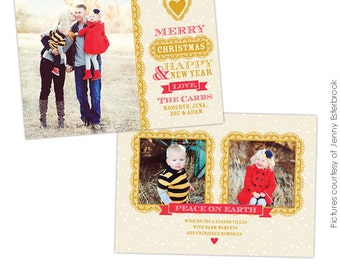 PSD Christmas Card Photoshop template - Chic Style - E626