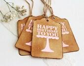 Happy Birthday To You // Shabby // Rhinestones // Vintage Inspired // Birthday // Gift Tags // Set of 4
