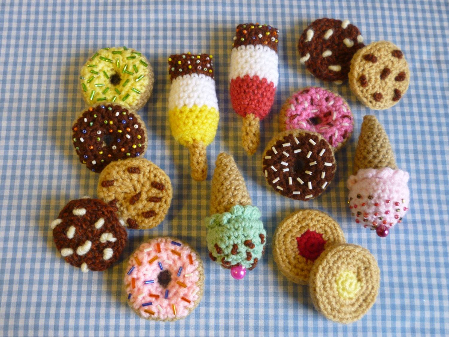 Party Treat Food Amigurumi Crochet Pattern Cookies Donuts
